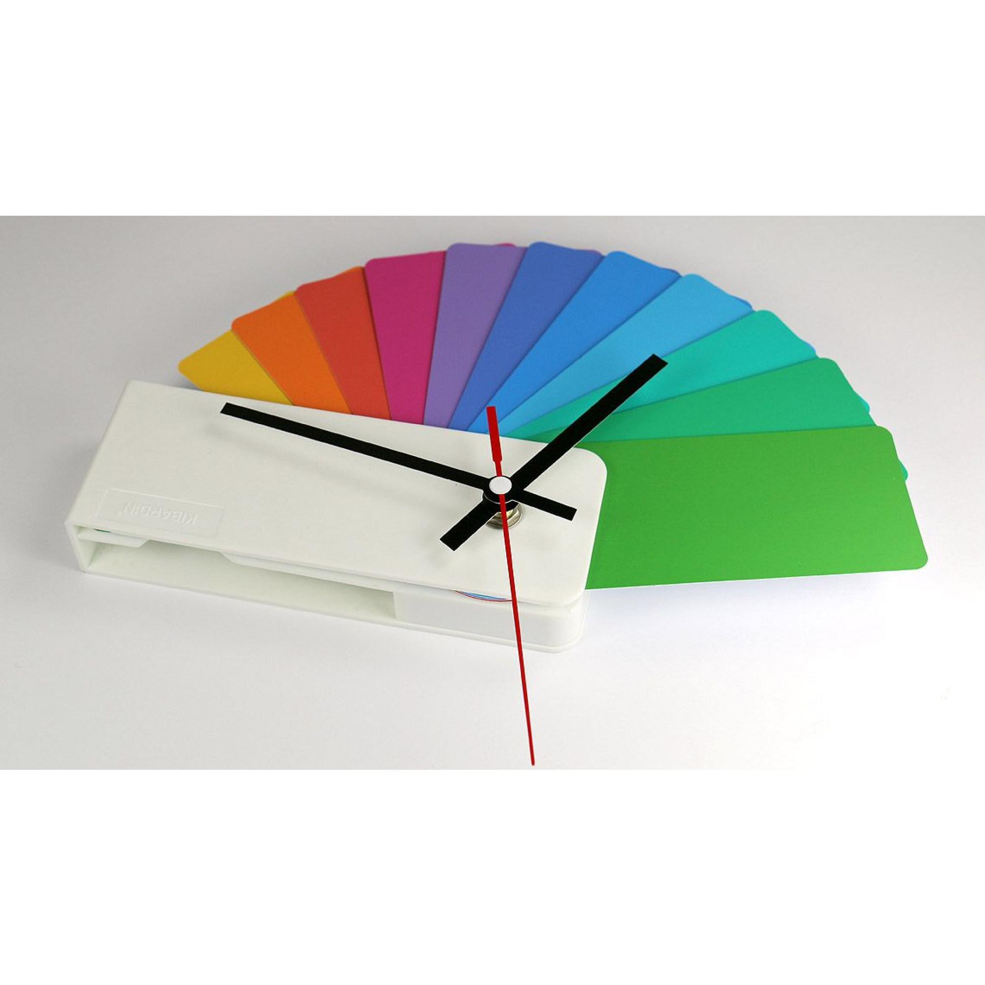 Desk/Wall Foldable Analog Clock Transformer | White & Multicolor