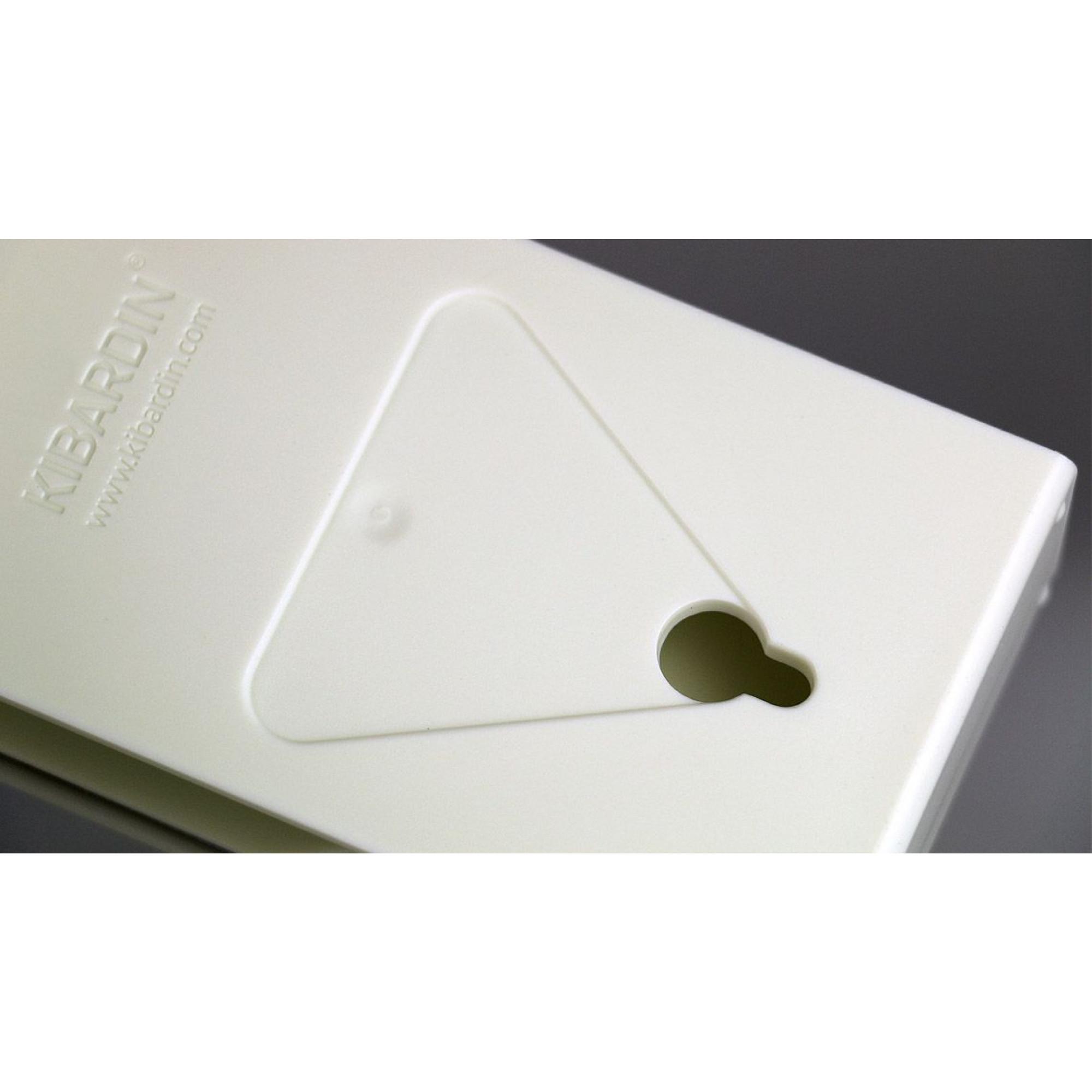 Desk/Wall Foldable Analog Clock Transformer   White & White