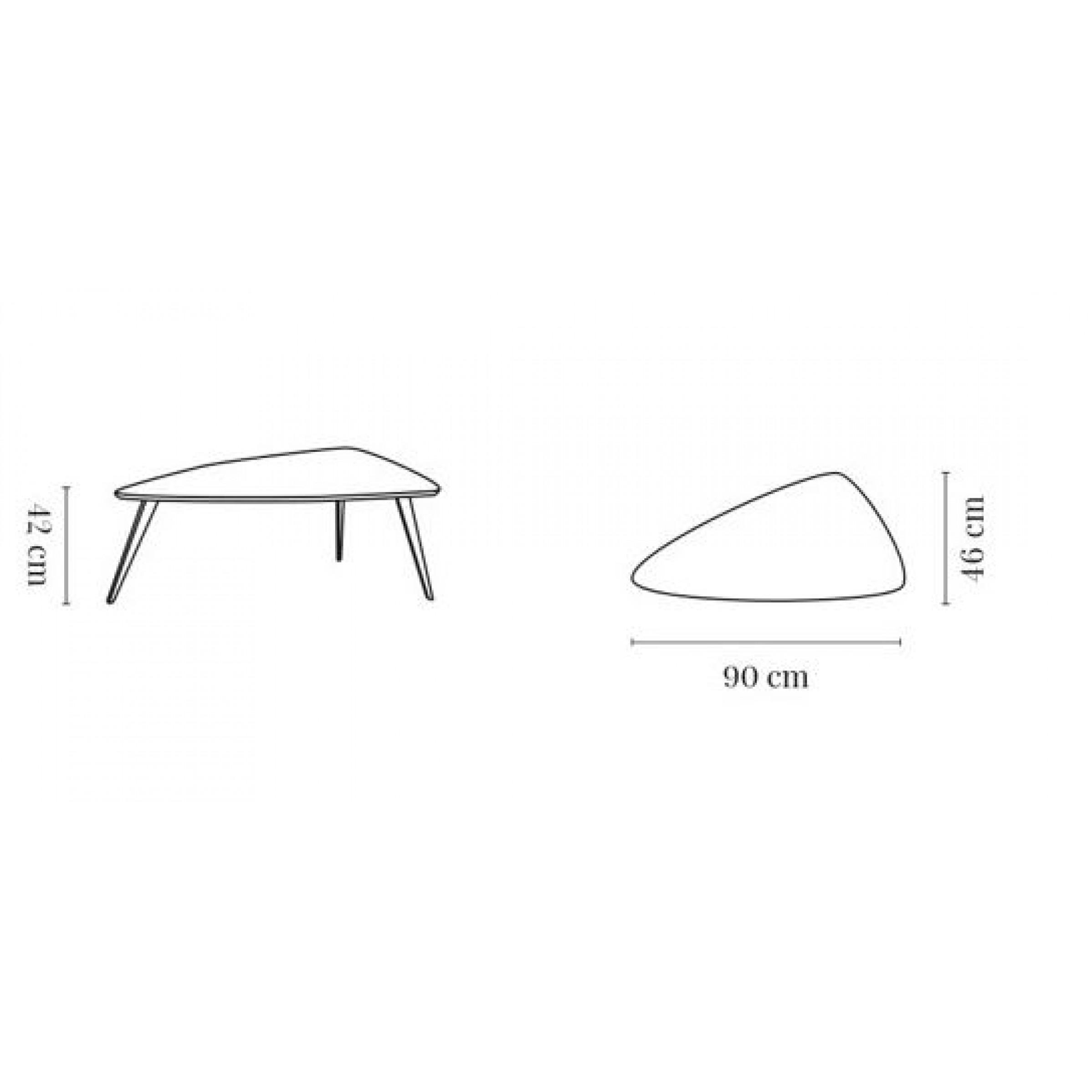 Long Coffee Table 366 Triangle M | Dark Oak