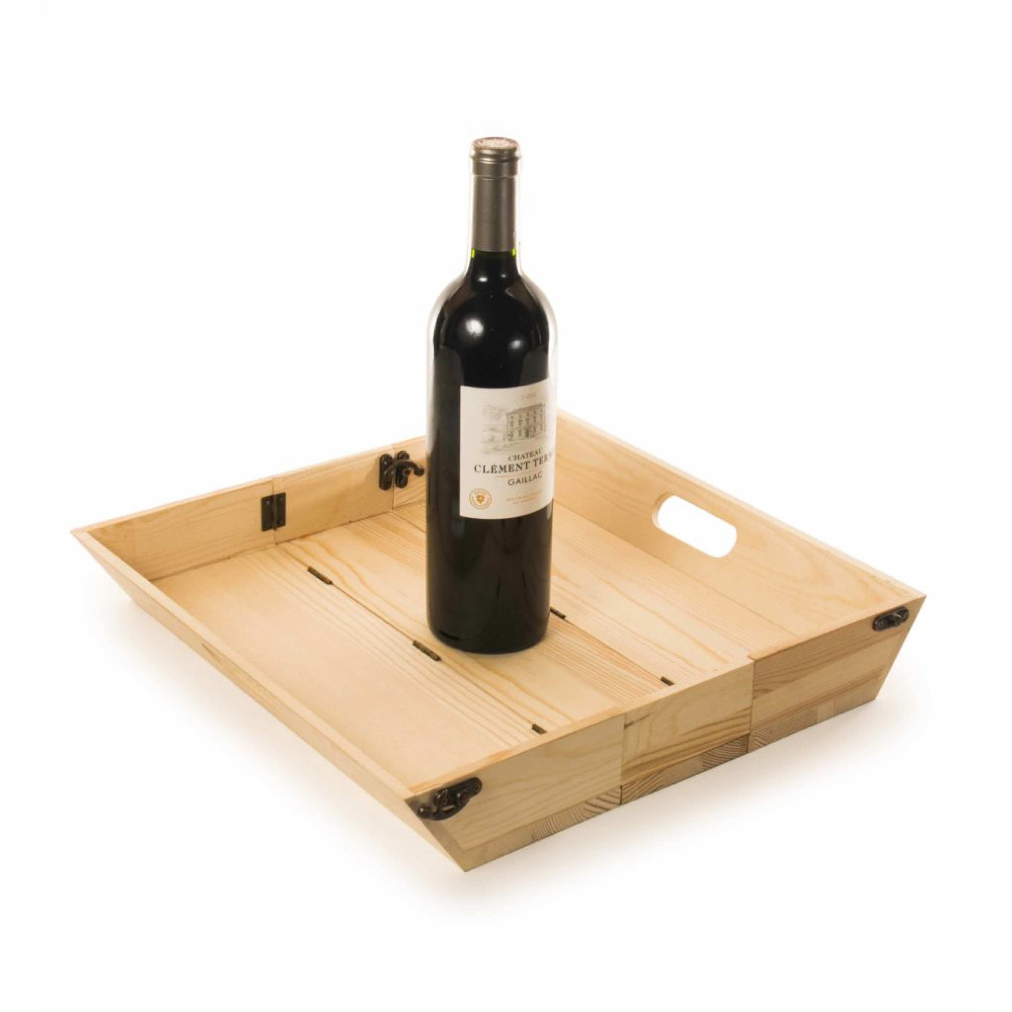 2-in-1-Weinkiste & Serviertablett Chique