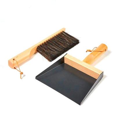 Set of Hand Brush & Dustpan & 2 Wall Hooks | Mr & Mrs Clynk | Black