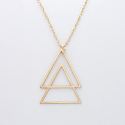 Halskette Triangles   Gold