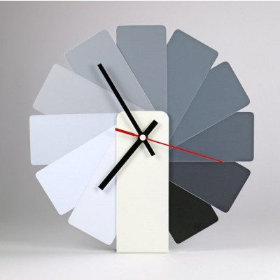 Desk/Wall Foldable Analog Clock Transformer | White & Monochrome