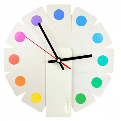 Desk/Wall Foldable Analog Clock Transformer | White & Spots