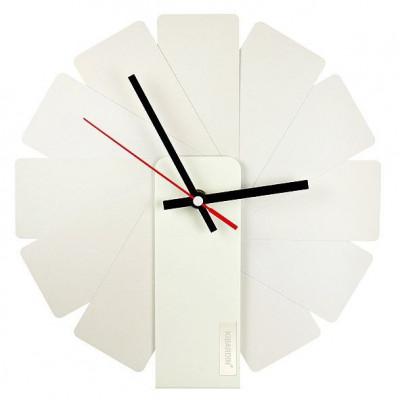 Desk/Wall Foldable Analog Clock Transformer | White & White