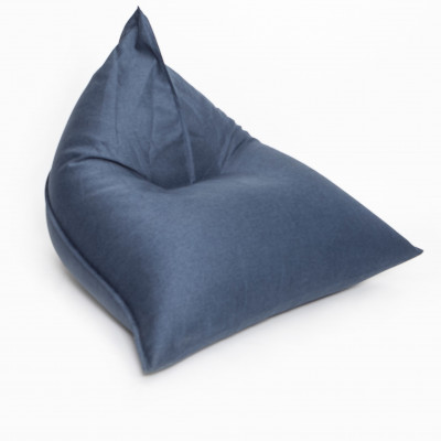Sitzsack Triangle + Nachfüllung | Blau