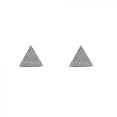 Ohrringe TRIANGLE | Grau