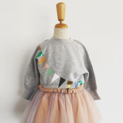 Girl's Sweater   Triangle Grey