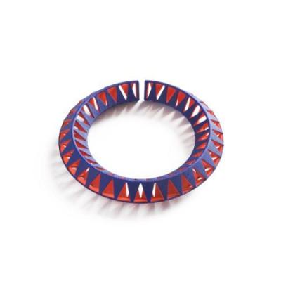 Tribù Bracelet 1 Bicolour | Blue/Orange Red