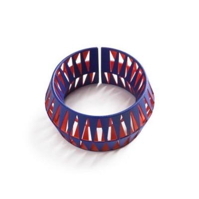 Tribù Bracelet 2 Bicolour | Blue/Orange Red