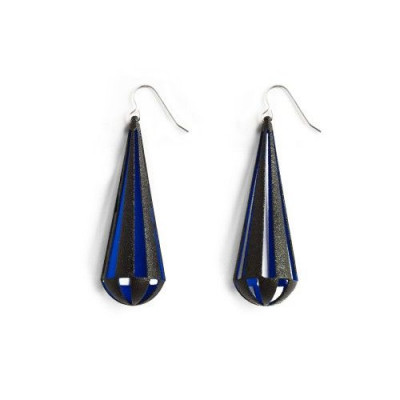 Tribù Earrings Bicolour | Black/Blue