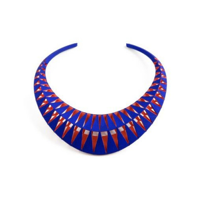 Tribù Necklace Bicolour | Blue/Orange Red