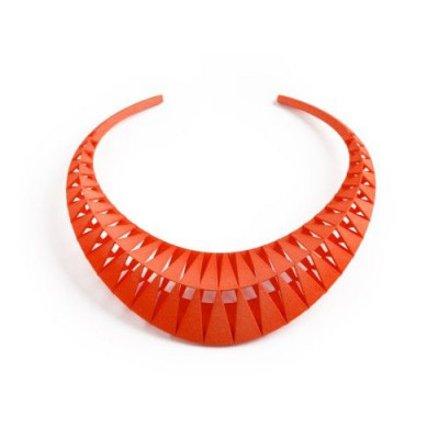 Tribù Necklace | Orange Red