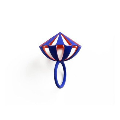 Tribù Ring Bicolour | Blue/Orange Red