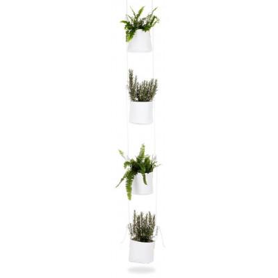 Pflanztasche mit Aufhängung 4er-Set | Weiß