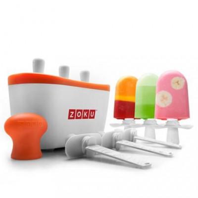Schnell-Eis-Pop-Maker Triple | Weiß