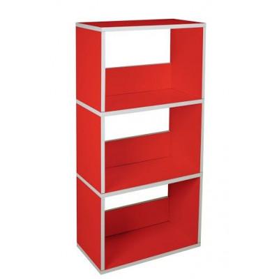 Drillings-Bücherregal | Rot