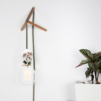 Porcelain Pendant #Flowers with Wall Mount  | White