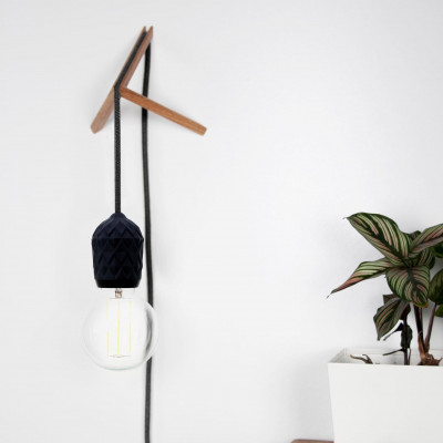 Porcelain Pendant #Shades with Wall Mount | Black