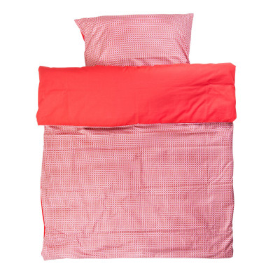Duvet Cover and Pillow Case | Philo Red