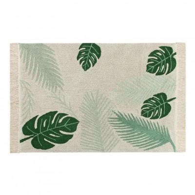 Waschbarer Teppich  | Tropical | Grün