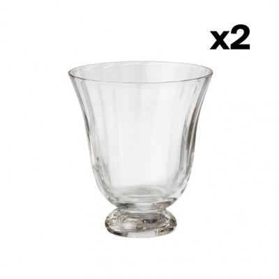 2er-Set Wasserglas Trellis | Clear
