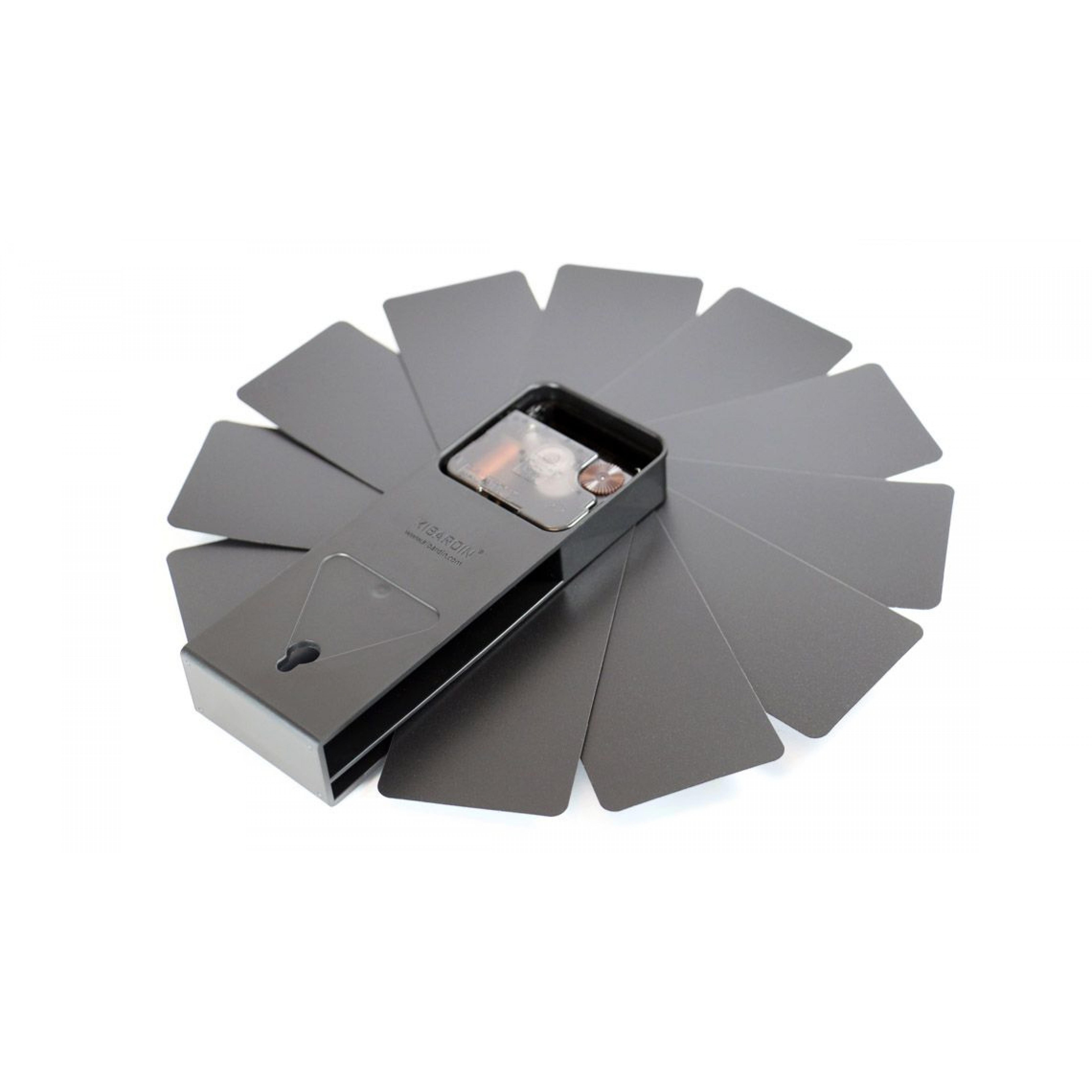 Desk/Wall Foldable Analog Clock Transformer   Black & Black
