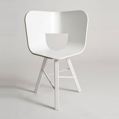Tria Holz Stuhl 3 Beine   Weiß offenporig