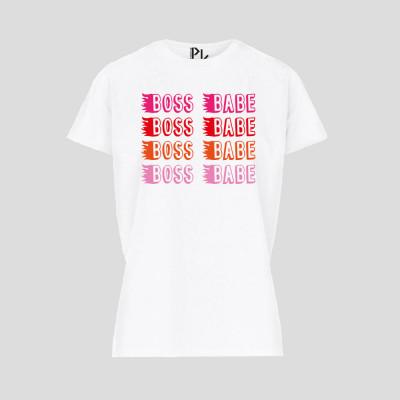 T-Shirt Boss Babe   Weiß
