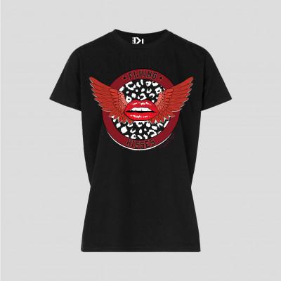 T-Shirt Flying Kisses   Schwarz