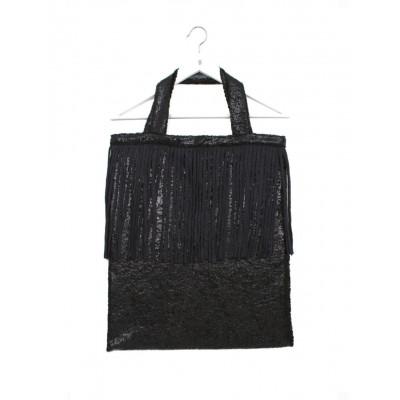 Tote Tasche   Glänzend Schwarz