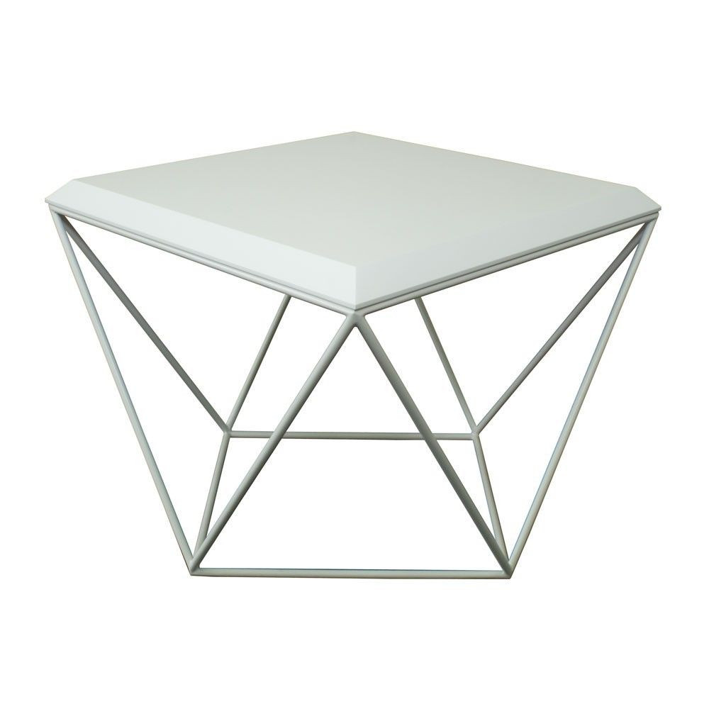 Tulip Coffee Table   MDF All White