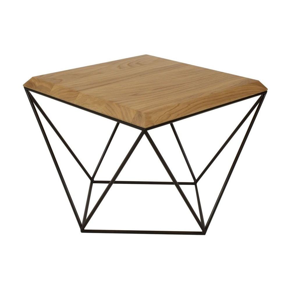 Tulip Coffee Table   Oak + Black Base