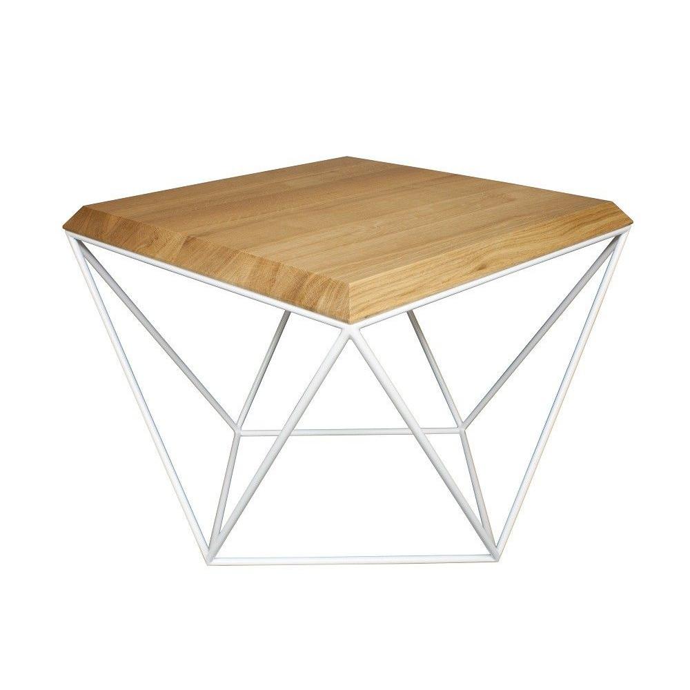 Tulip Coffee Table | Oak + White Base