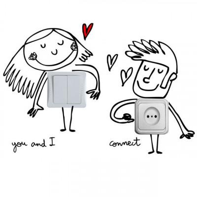 Du und ich verbinden