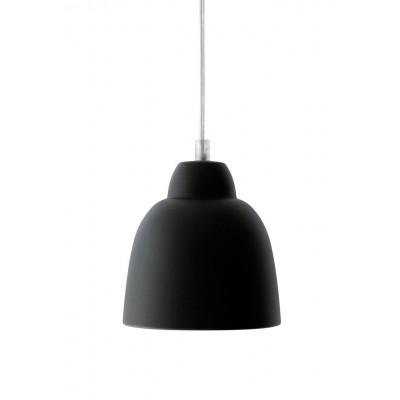 Tulpe Lampe Seide Schwarz