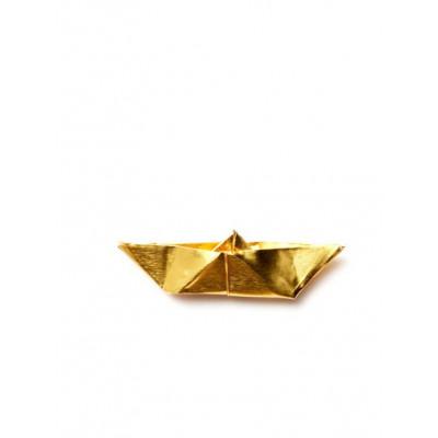 ORIGAMI Brooch   Gold