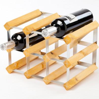 Weinregal für 9 Flaschen | Helles Eichenholz