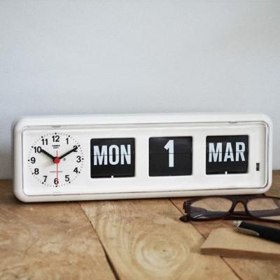 Flip-Clock BQ38   Weiß