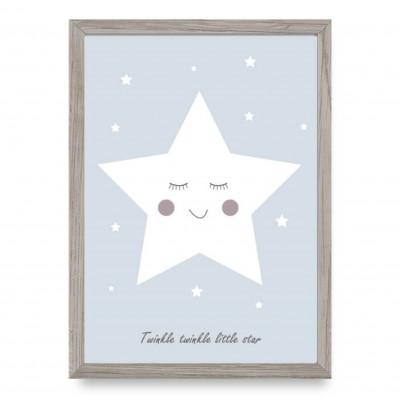 Poster | Kleiner Stern | Blau