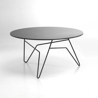 Twist Runder Tisch Schwarz   Groß