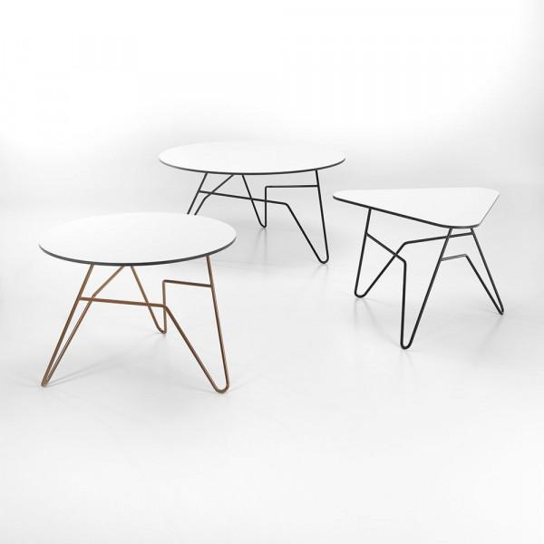 Twist Triangular Table   White