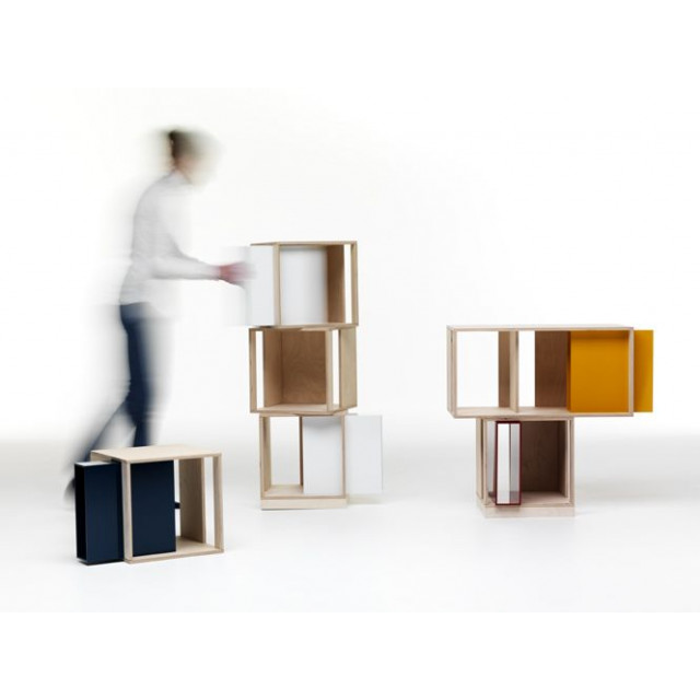 Twin Box Modular Storage Unit | Square