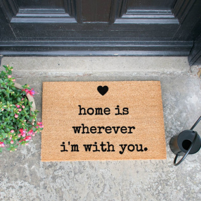 Fußmatte | Home is Wherever I'm With You