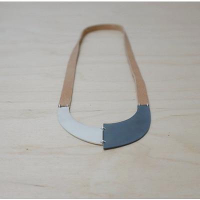 Necklace U | Silver & Black