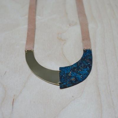 Necklace U | Copper & Green-blue