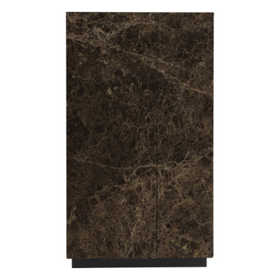 Sideboard Gorizia 90x45x160   Dunkler Marmor Matt-Matt Schwarz
