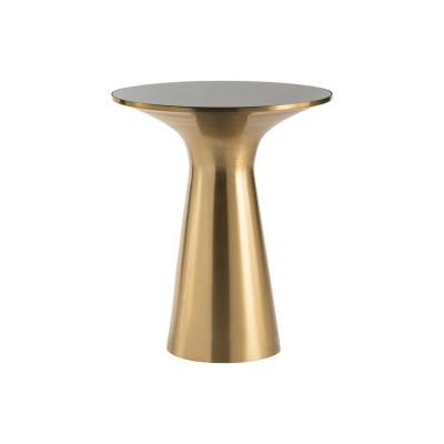 Beistelltisch Paros 49x49x58   Brushed Gold-Schwarz