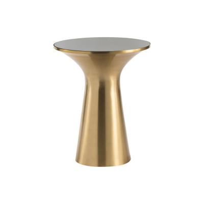 Beistelltisch Paros 40x40x49   Brushed Gold-Schwarz