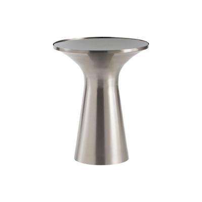 Beistelltisch Paros 40x40x49   Brushed Silber-Schwarz
